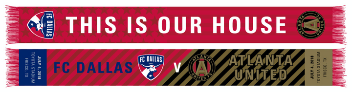 FC Dallas v Atlanta United Match Up Scarf - Soccer90