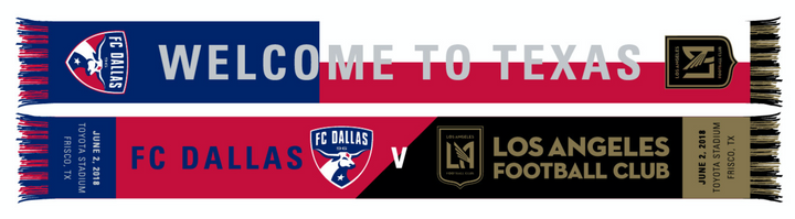 FC Dallas v LAFC Match Up Scarf - Soccer90