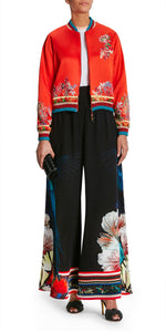 Embroidered Wide Trousers
