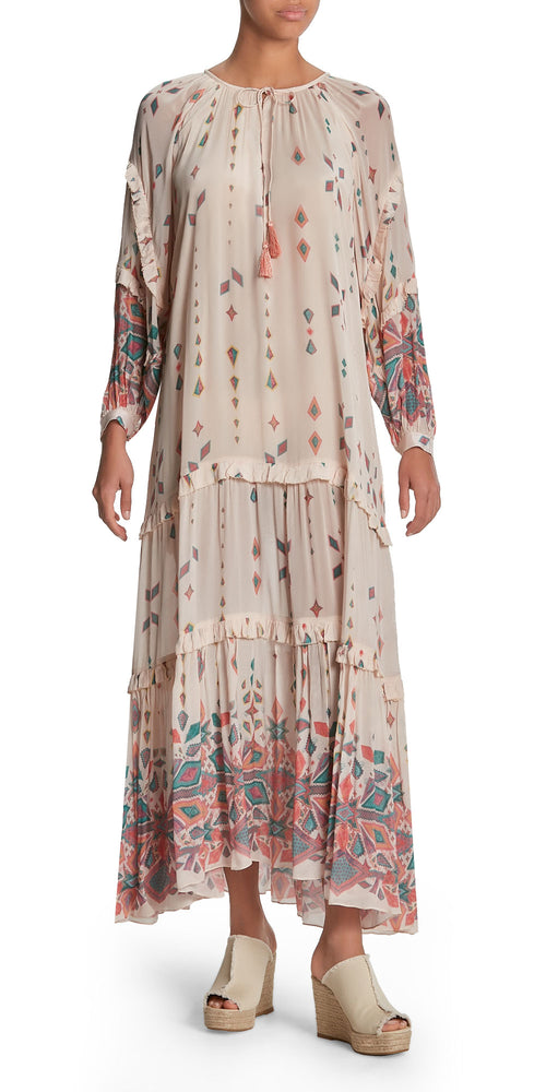 Pisac Long Sleeve Print Dress