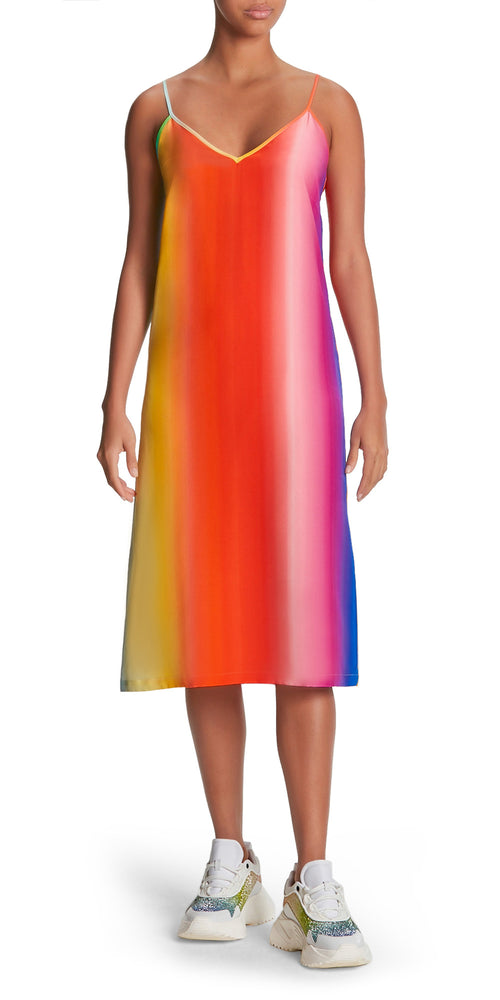 Strap Rainbow Ombre Slip Dress
