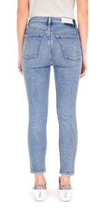 High Rise Ankle Crop Skinny Jeans