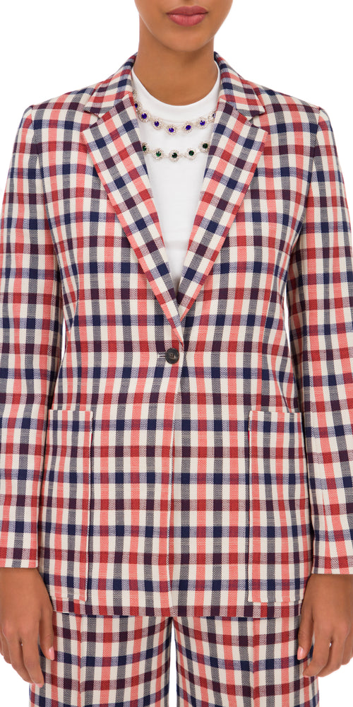 Plaid Patch Pocket Jacket