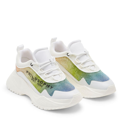 Rainbow Diamonte Sneakers