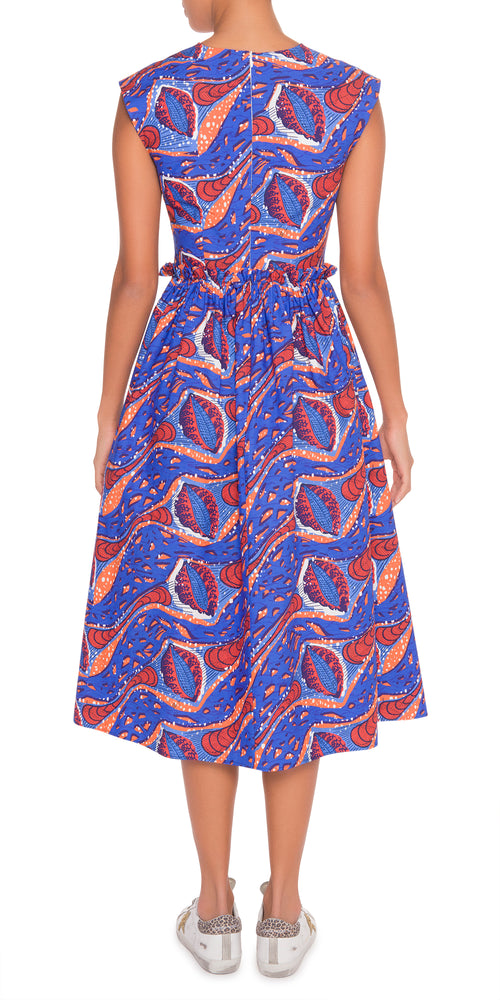 Sleeveless Print Dress