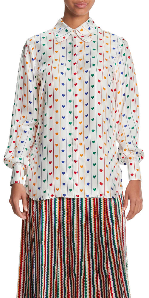 Bailey Long Sleeve Heart Blouse