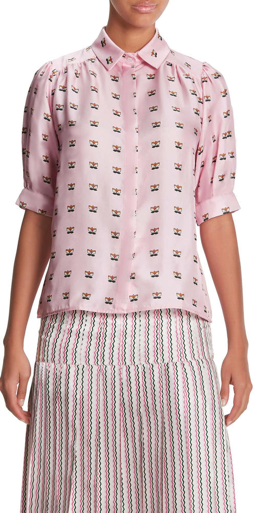 Betty Short Sleeve Print Blouse