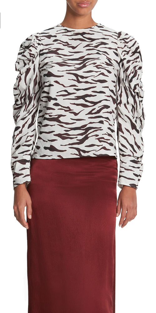 Roberta Long Sleeve Zebra Top