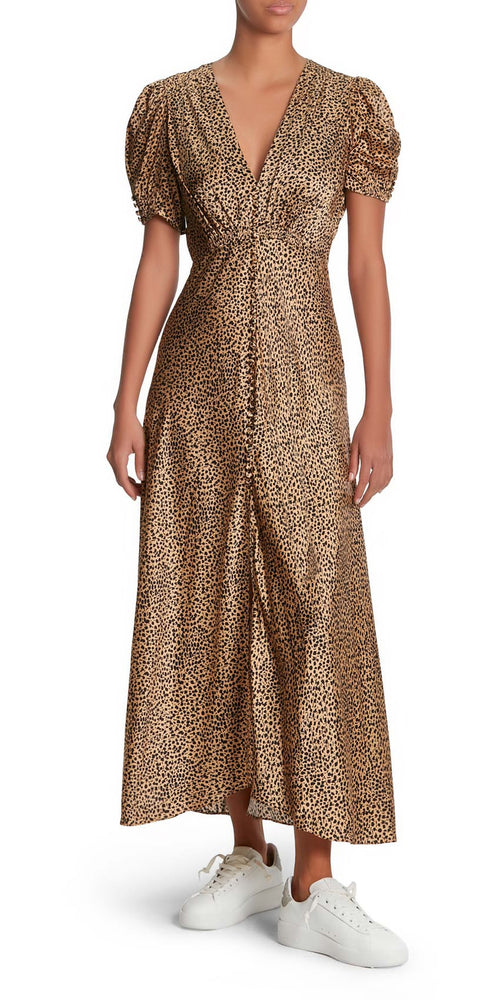 Lea Short Sleeve Leopard Dress