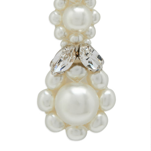 Drop Pearl And Crystal Earrings