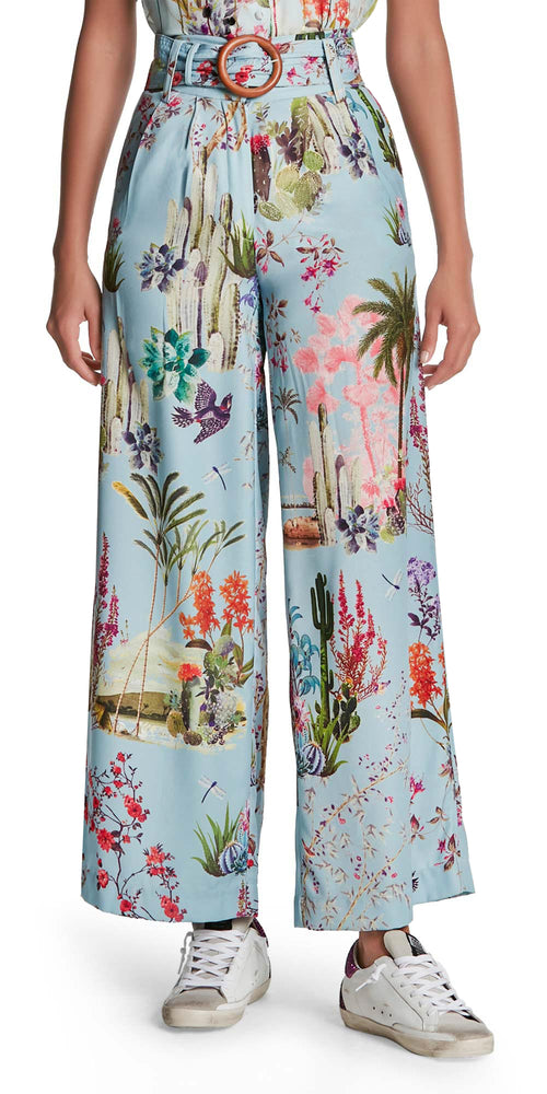 Liv Print Wide Leg Trousers