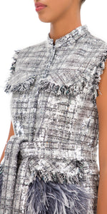 Wyatt Sequin Feathered Gilet