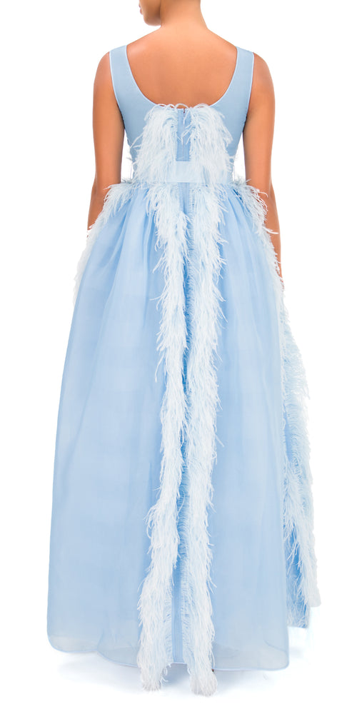 Beau Organza Feather Gown