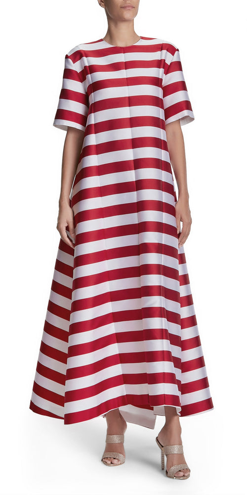 Short Sleeve Stripe Gown