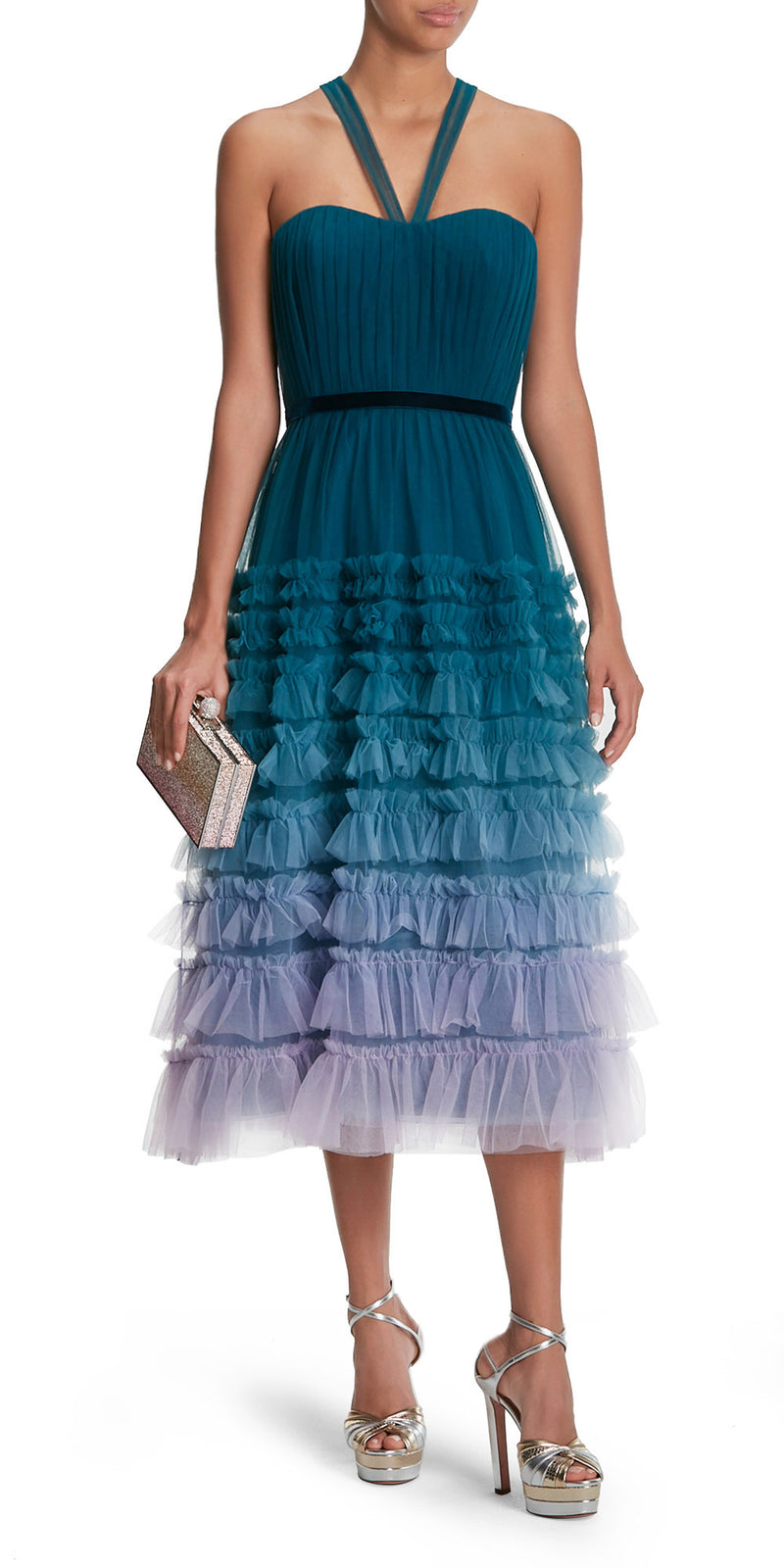 Halter Ombre Tulle Dress