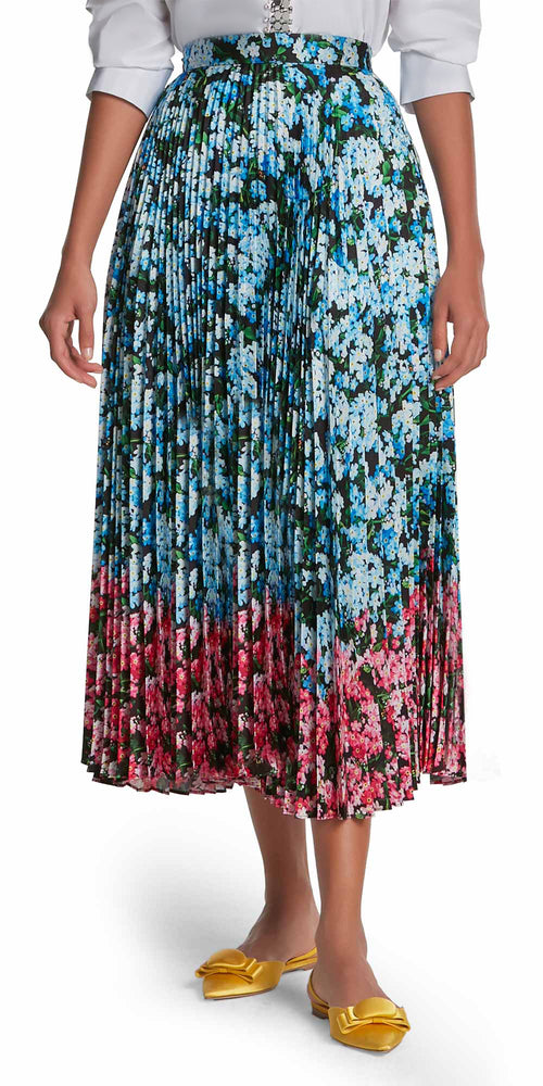 Uni Floral Pleat Skirt