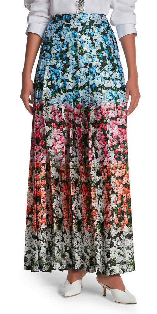 Nyx Floral Pleat Skirt