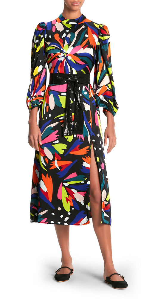 Seraphina Long Sleeve Print Dress