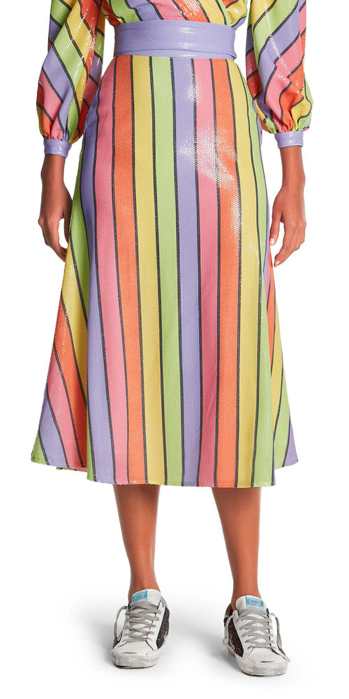 Penelope Stripe Sequin Skirt