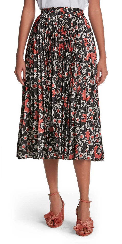 Kim Print Pleat Skirt