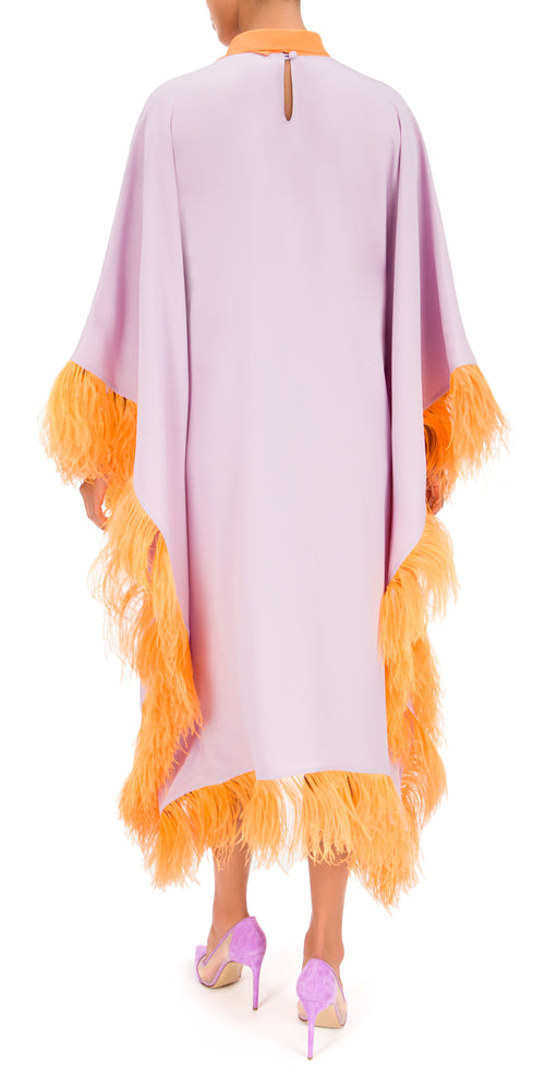 Casta Diva Feather Trim Kaftan