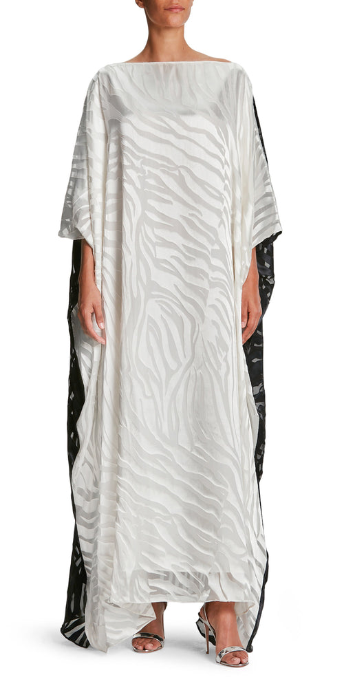 Jungle Fever Zebra Kaftan