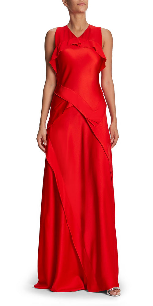 Sleeveless Bias Seam Gown