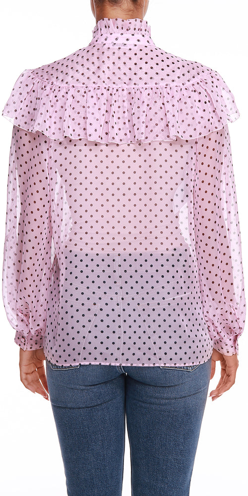Pink Polka Dot Top