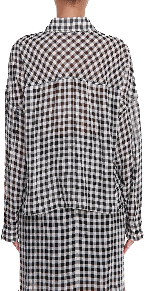 Gingham Lace Shirt
