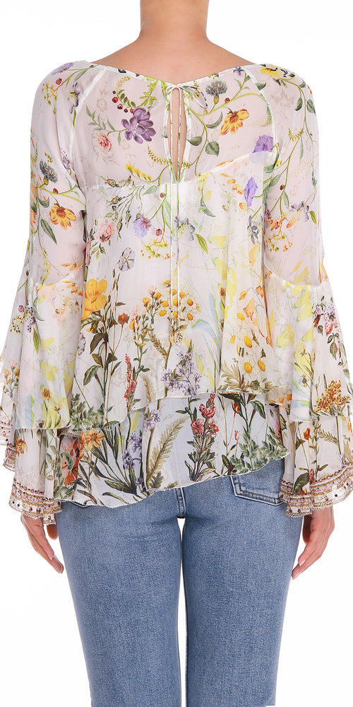Layered Floral Blouse