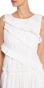 Sleeveless White Dress