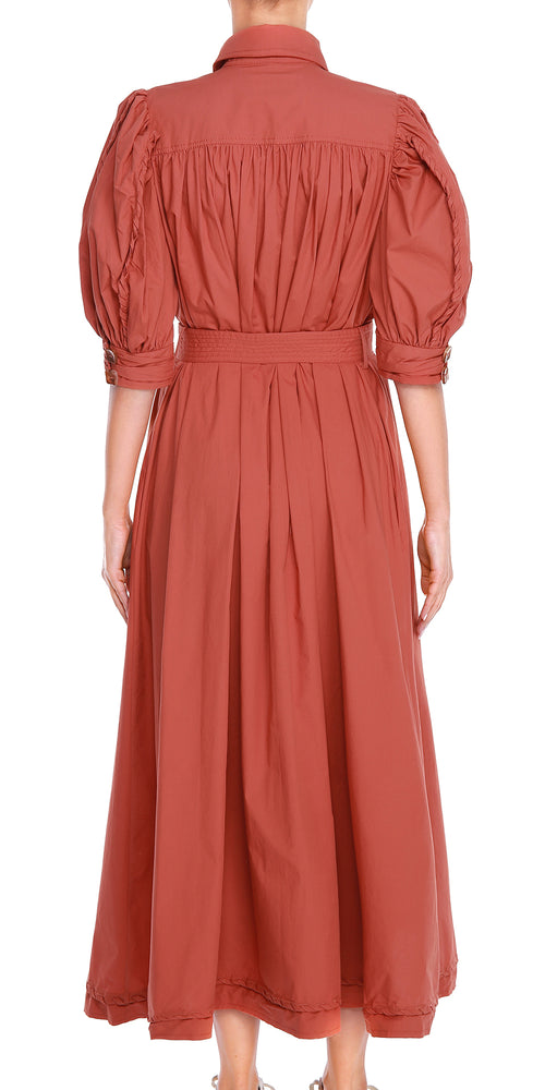 Rust Maxi Sleeve Dress