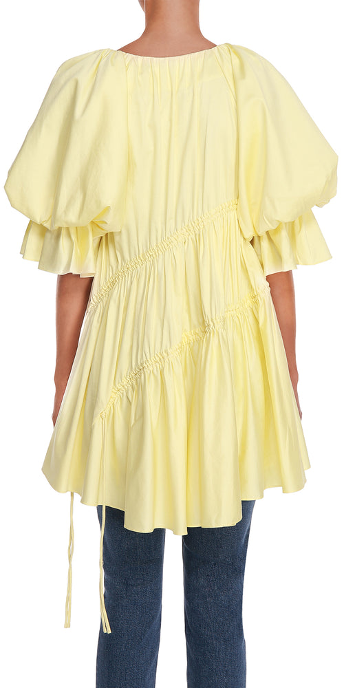 Yellow Asymmetric Dress