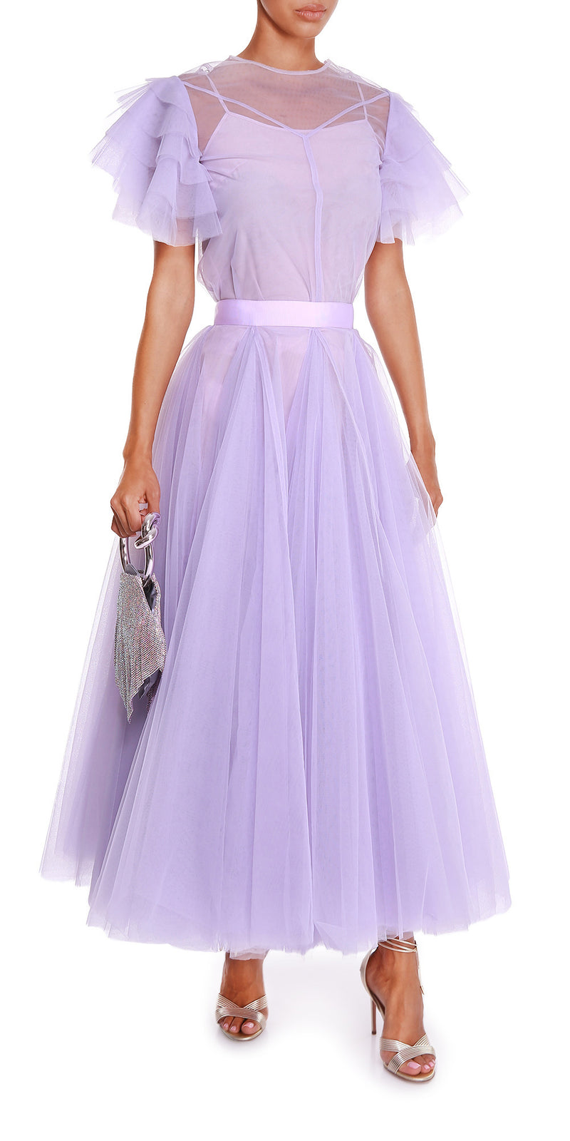Sophie Tulle Top Lilac