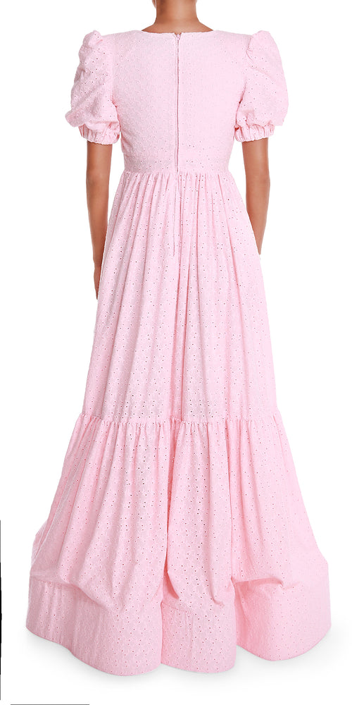 Pink Eyelet Gown