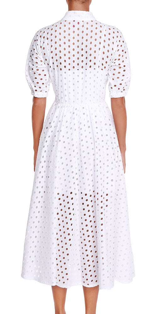 Short Sleeve White Dress