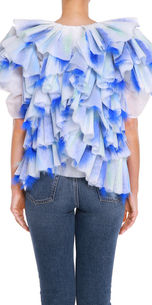 Ruffled Feather Top