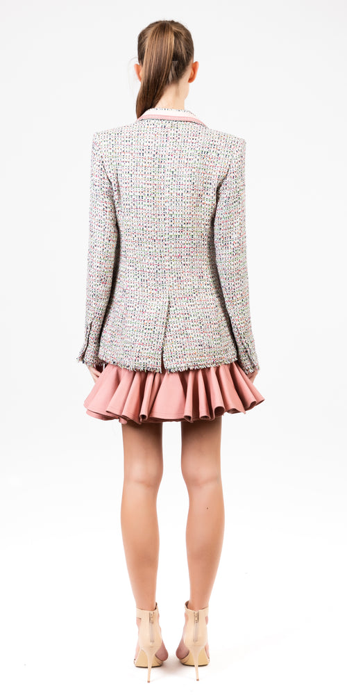 Long Sleeve Tweed Jacket