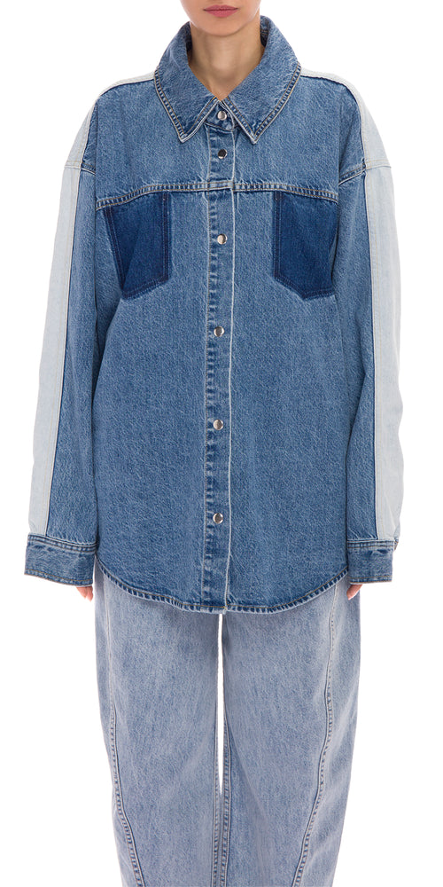 Oversized Two Tones Shirt