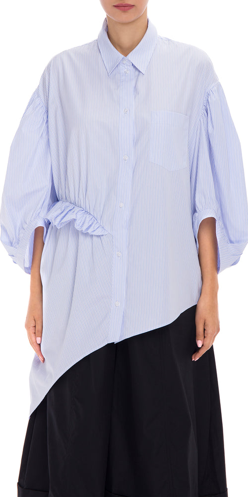 Puff Sleeve Asymmetric Shirt