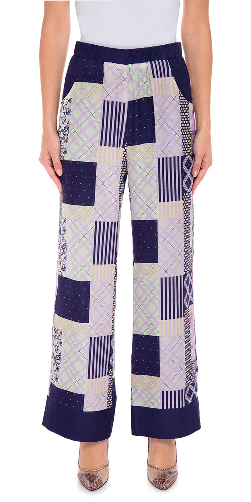 Patchwork Wide Trouser