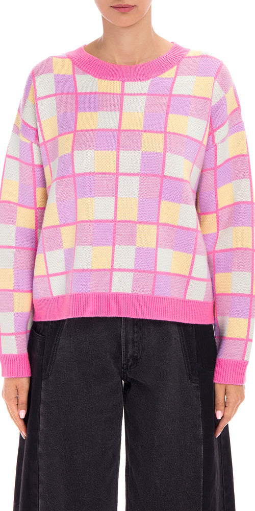 Aria Checked Sweater