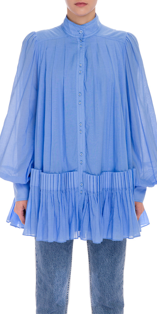 Pleat Mini Dress