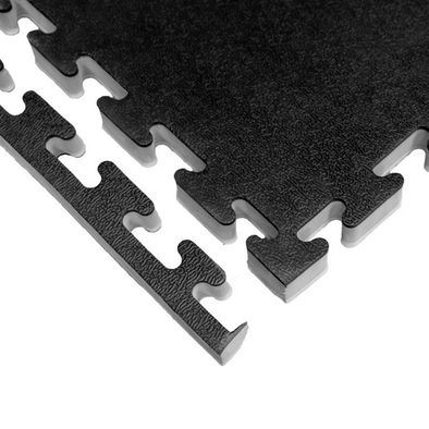 ZEBRA 1 INCH THICK PREMUM PUZZLE MATS - BLACK/GREY (1m by 1m)