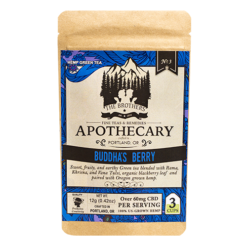 Brothers Apothecary Buddha's Berry | Hemp CBD Tea (3 pack)
