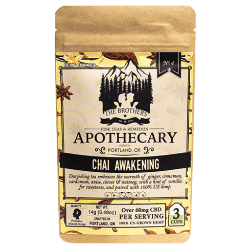 Brothers Apothecary Chai Awakening | Hemp CBD Tea (3 Pack)