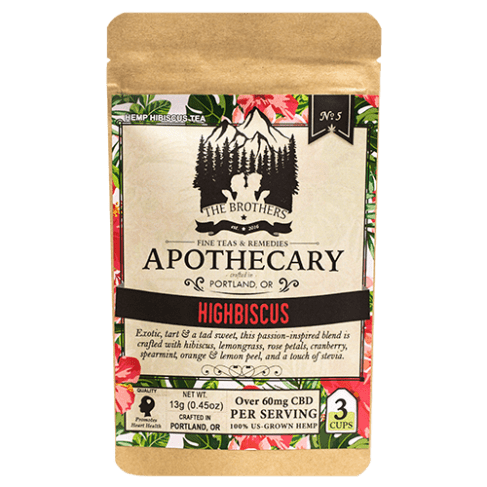 Brothers Apothecary Highbiscus | Hemp CBD Tea (3 Pack)