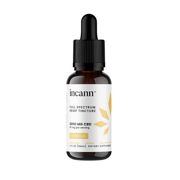 Incann Vanilla Tincture, 2000mg
