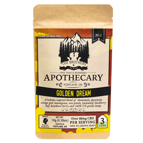 Brothers Apothecary Golden Dream | Hemp CBD Tea (3 Pack)