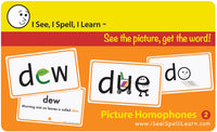 I See, I Spell, I Learn® - Picture Homophones™ Flashcards - Set 2